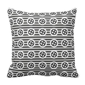 Line Art Pencil Sketch Abstract Design Draw Paper Throw Pillow