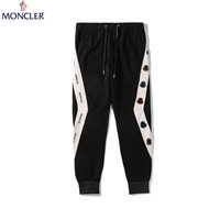 Moncler Tide brand new irregular embroidery ribbon trousers