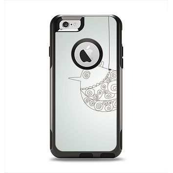 The Simple Vintage Bird on a String Apple iPhone 6 Otterbox Commuter Case Skin Set