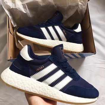 adidas iniki runner boost navy fashion trending running sports shoes sneakers