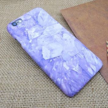 Purple Marble Stone iPhone 5se 5s 6 6s Plus Case Cover + Nice Gift Box 275-170928