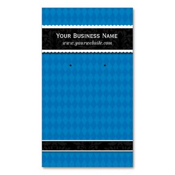 Custom Earring Cards Blue Black Business Cards