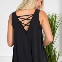 Haley Modal Summer Tank | Black