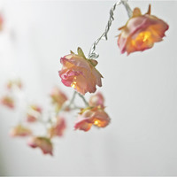 NEW Longer Shabby Rose Fairy Lights   Rhubarb and by PamelaAngus
