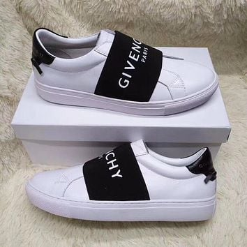 GIVENCHY Fashion Women Men Leisure Leather Sport Shoes Sneakers c0f81370d7