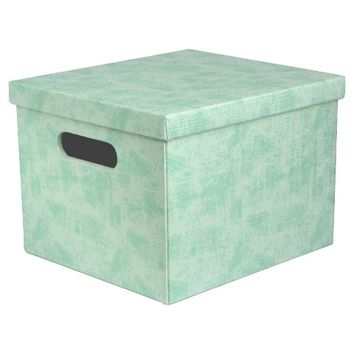 Lidded Storage Milk Crate - Turquoise - Room Essentials™