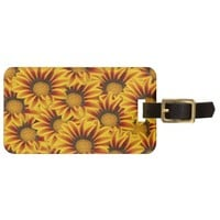 Orange and Yellow Gazania Flowers Tags For Bags