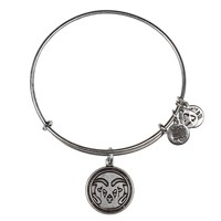 Alex and Ani Colorado State University® Mascot Charm Bangle - Russian Silver