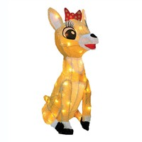 Rudolph Clarice 18-in. Pre-Lit Decor - Indoor & Outdoor