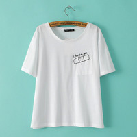 White Band Aid Embroidered T-Shirt