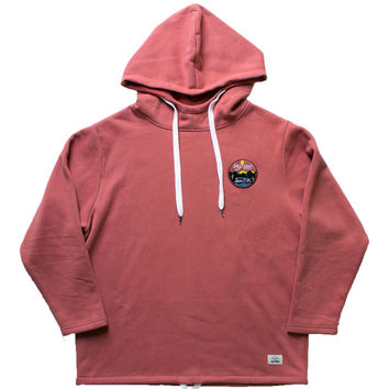 Altru Apparel Wild & Free Hoodie with embroidered chest patch mock neck (Medium Only)