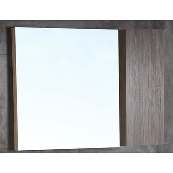 42 in. Wood framed mirror with cabinet