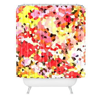 Rosie Brown Blooms Shower Curtain