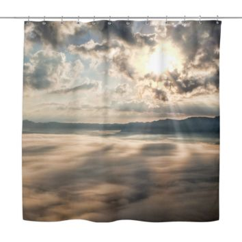 Kumamoto Japan Sunbeams Shower Curtain