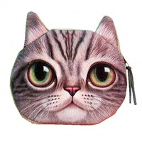 B2 – CAT FACE COIN PURSE – GREEN