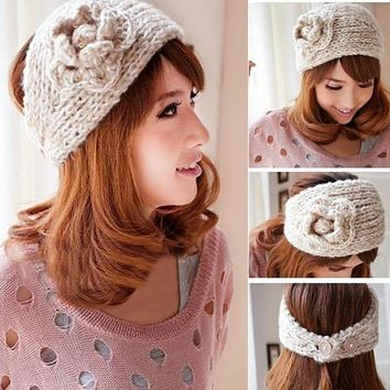 Crocheted Ear Warmer Head Band