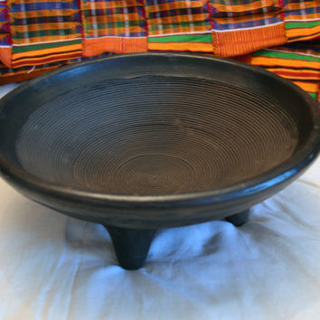 African Art, Asanka, African Pottery, Pottery, Earthenware, Ceramic Bowl, Mortar, Home Decor, African American Art, Black Art, Tribal Art