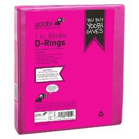 "Yoobi™ 1"" Binder with easy-open D ring - Pink : Target"