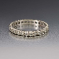 Outstanding Art Deco White Gold Eternity Band Ring