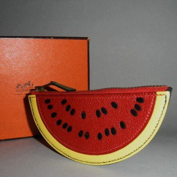 Authentic Hermes Fruit Coin Purse Watermelon Highly Collectible