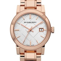 Women's Burberry Medium Check Stamped Bracelet Watch, 34mm