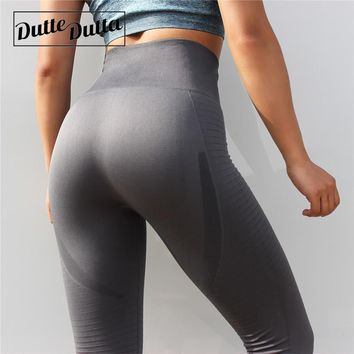 Women Seamless Leggings Tummy Control Sport Leggings Push Up Gym Leggings High Waist Leggings For Fitness Hollow Leggins
