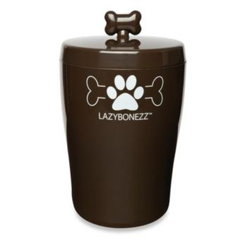 LAZYBONEZZ™ Sleek Pet Treat Jar in Chocolate