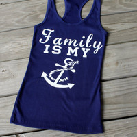 SALE! family is my anchor tank top