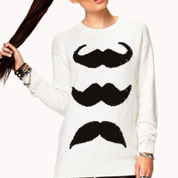 Playful Spiked Mustache Sweater