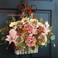 summer wreath fall wreaths for front door wreaths outdoor pewter pink birch bark vases for front door decorations welcome wreaths