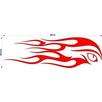 Eagle Eye Animal Flames Motor Cross Street Track Motorcycle Racing Trailer Decals Stickers Mural One Color 2 Graphics AF02