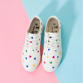 Sweet casual canvas shoes