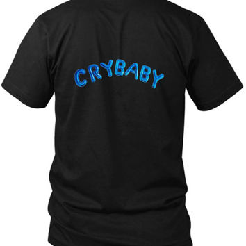 Cry Baby Logo 2 Sided Black Mens T Shirt
