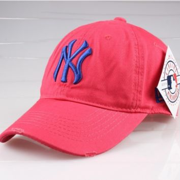 Rose Red Sports NY Cotton Baseball Cap