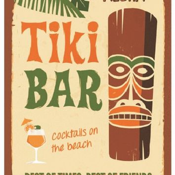 Tiki Bar Vintage Metal Tin Signs