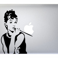 "Audrey Hepburn - Apple Macbook Laptop Sticker Decal Vinyl Mac Pro Air Retina 11"" 13"" 15"" 17"" Inch Cover Breakfast at Tiffany's MAC-079"