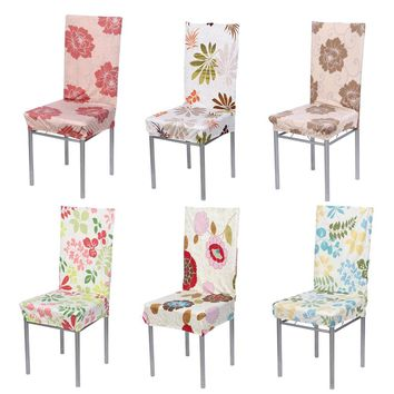 Chair Cover Dining Polyester Spandex Chair Seat Covers for Wedding Party Decoration Removable Stretch Elastic Slipcover