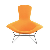 Bertoia Bird Chair with Full Cover - Boucle