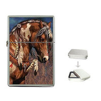 Indian Pony on Flip Top Lighter with Gift Box..New