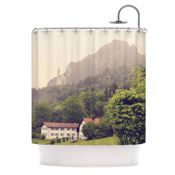 "Sylvia Coomes ""German Beauty "" Green Travel Shower Curtain"