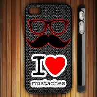 NEW Mustache iPhone 4 / 4S / 5 Case Apple Cover