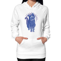 Trippy Kitty  flower of life edition Hoodie (on woman)