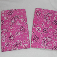 Teething Pads/Dribble/Drool Chew Pad For Baby Carriers/Ergo/Baby Bjorn/Pink Paisley