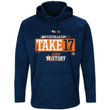 Houston Astros Majestic MLB Navy Ultra Take 17 Pullover Hoodie