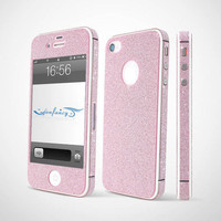 Nice Sparking Rhinestone Full Body Cover Skin Sticker Shield For iPhone 4S/5