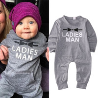 Newborn Toddler Baby Girls Boy Clothing Cotton Romper Jumpsuit Gray Color Cute Clothes Outfits Baby Boys