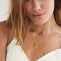 Moon and Lola L Monogram Charm Necklace