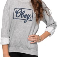 Obey Club Script Crew Neck Sweatshirt