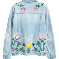 H&M Embroidered Denim Jacket $49.99