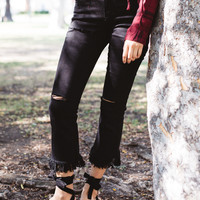 Black Frayed Jeans